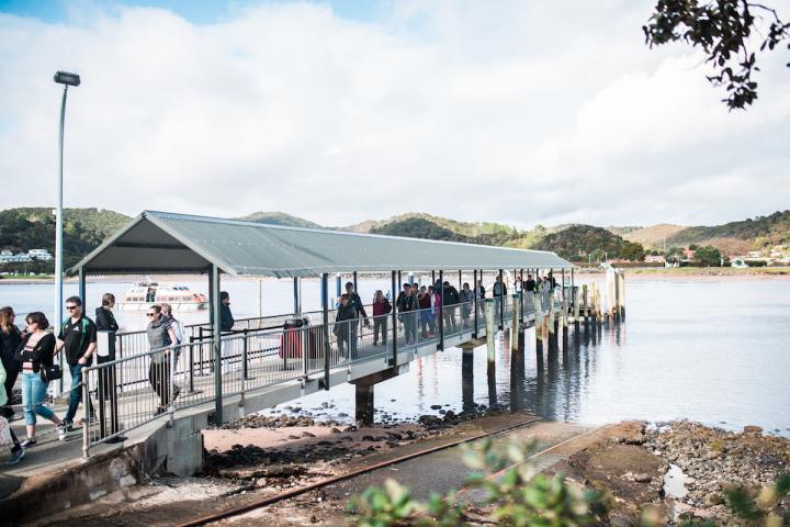 Arriving at Waitangi Wharf